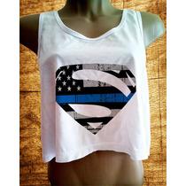 Blusa Superman Feminina Marvel Dc Herois Camiseta Cropped