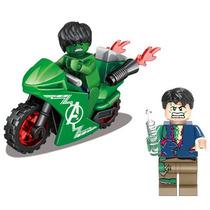 Bruce Banner + Hulk + Moto Minifigures Lego Compatíveis B34