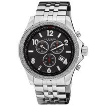 Reloj Akribos Xxiv Ak659bk Es Chronograph Stainless Steel