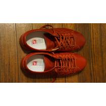 Zapatillas Narrow Cuero Rojo Modelo Increíble Nuevas 42