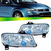 Par Farol Fiat Stilo 2003 2004 2005 2006 2007 Plug Quadrado