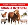 Paquete Animales De Granja Manulaes Cria Y Fabric. Alimento