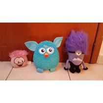 Tres Peluches Originales Furby Club Pingui Y Mi Villano