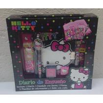 Fiesta Hello Kitty Set De Diario Con Estampas Y Sellos