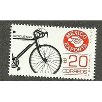 Estampilla Mexico Exporta Bicicletas 20 Pesos. 8va Nueva