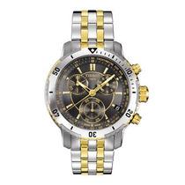 Relógio Tissot Prata Preto Misto 12x Sem Juros Garantia