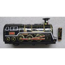 Tren Máquina Locomotora Vintage De Lamina