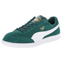 Zapatos Puma Liga Suede Classic Gamuzados Verdes