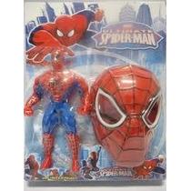 Boneco Homem Aranha Articulado 25 Cm Mais Mascara
