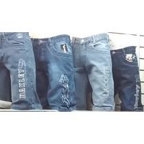 Kit C 4 Bermudas Jeans Várias Marcas Atacado