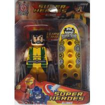Boneco Lego Marvel Liga Da Justiça Heróis Avengers Wolverine