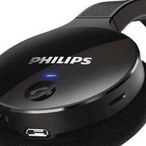 Audífonos Bluetooth Estéreo Marca Phillips Color Negro