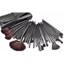 Pincéis Para Maquiagem Kit Estojo 32 Pincéis - Importado