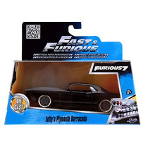 Fast And Furious Barracuda Plymouth 1970 Negro Con Gris 1:32