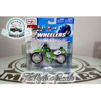 Moto De Colección Kawasaki Klx 250 Sr Maisto 1/18