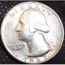 Moeda Eua Quarter Dollar 1967