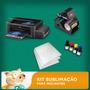 Kit Sublimação Prensa Ca+multifuncional+folhas+tintas+perfil