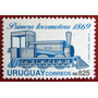 Osl Sello 1395 Uruguay Primera Locomotora Tren Afe