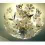 Lampara Plafon Techo 3 Luces Apliques Flores Microcentro
