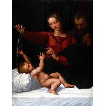 Lienzo Tela La Sagrada Familia Arte Sacro Rafael 1509 50x60
