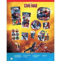 Arma Tu Paquete De Desechables Para Fiesta Capitán América