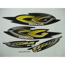 Kit Adesivo Honda Cg 125 Titan Ks 2001 Verde - Frete R$9,90