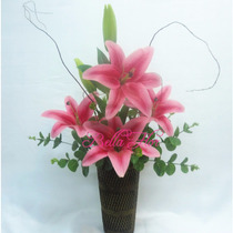 Kit 5 Flores Artificiais Lírio 100cm Pronto Entrega