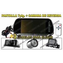 Espejo Retrovisor Pantalla 7 C/ Camara Reversa Contra Agua