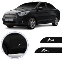 Friso Lateral Ford Ka Sedan 2013 Preto Ebony