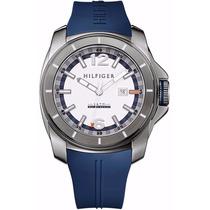 Reloj Tommy Hilfiger Acero, Correa Silicona Azul Nuevo Caja