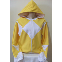 Moletom Feminino Estilizado Power Rangers Amarelo