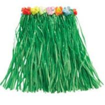 Disfraz Hawaiano - Elegante De Pasto 50cm Verde Hula Falda