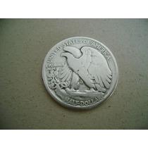 Eua Estados Unidos Half Dollar De Prata 1942 - Mbc