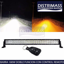 Barra Led 180w Doble Color Con Control Remoto Impermeable