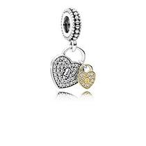 Charm Pendente Love Locks Ouro 14k Pandora Original