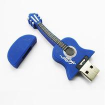 Pendrive Personalizado 8 Gb Violão Azul, Musica