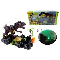 Brinquedo Dinossauro Com Som E Luz + Porta Caneta