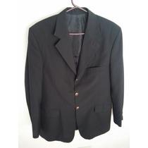 Saco De Vestir Hombre Para Traje Negro 48