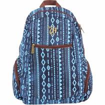 Mochila De Costas Capricho Étnica Azul Escolar Juvenil 48908