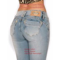 Calças Jeans Feminina Vermelha Sawary Skinny Indigo Ouro $