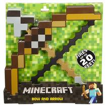 Minecraft Arco Y Flecha Originales Mattel Hasta 6m Alcanze