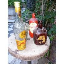 Lote Antiguas Botellas Vacias Licor