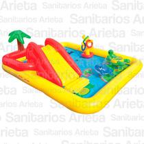 Pileta Inflable Infantil Con Tobogan Intex Modelo Ocean