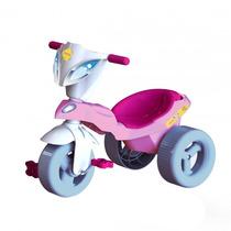 Triciclo Infantil Pepita Com Baú Rosa/branco 07344 - Xalingo