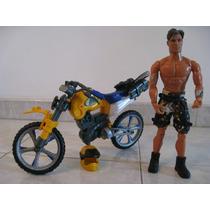 Muñeco Max Steel Con Su Moto Original