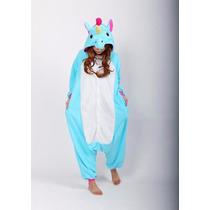 Pijama Unicornio Azul Kigurumi Disfraz Cosplay Ropa Dormir