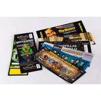 500 Impresion Entradas Autoadhesivas Numeradas Fullcolor