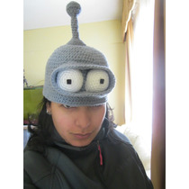 Gorros Crochet Bender, Homero, Kirby, Totoro, P-chan Y Más