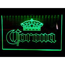 Letrero Luminoso Led Corona Acrilico Grabado Bar