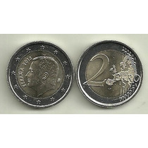 Moneda España Bimetalica 2 Euro Año 2015 Rey Felipe Vi